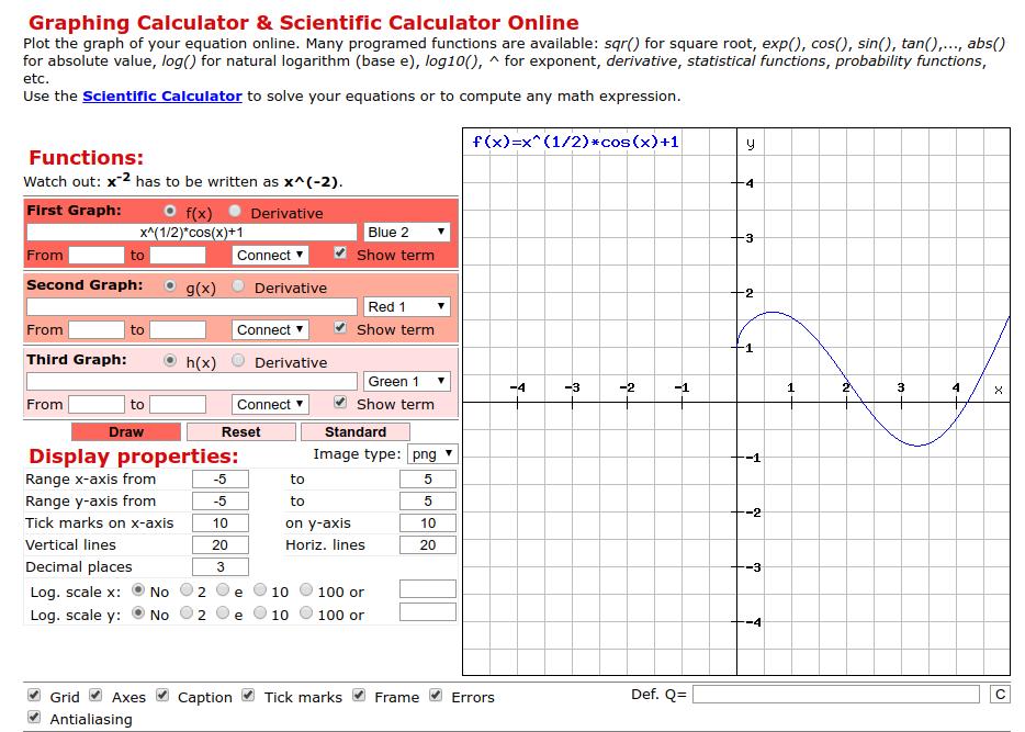 online graph plotter graficador de funciones