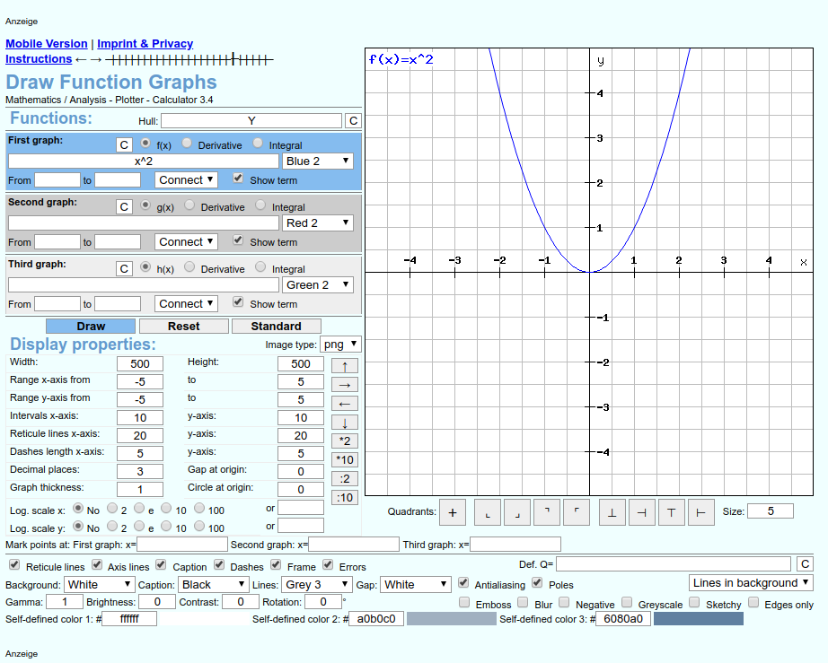 graficador de funciones rechner