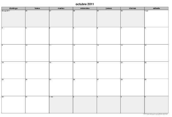 Imprime tu propio calendario para organizarte mentes - Como hacer tu propio calendario ...