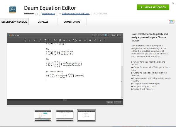 Escribir ecuaciones matemáticas online