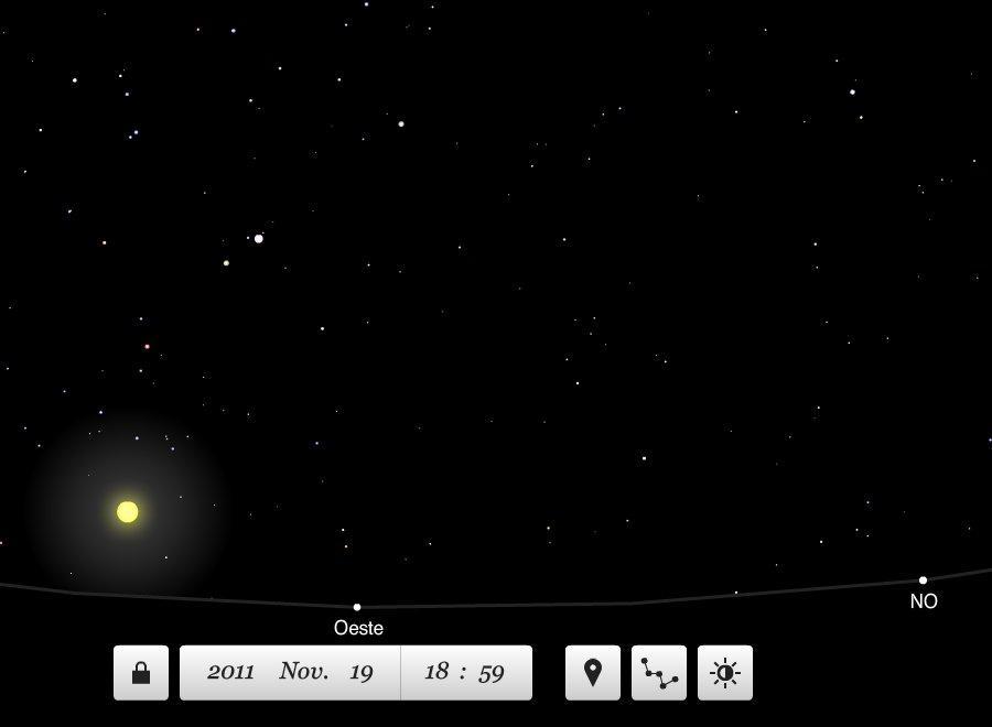 explorar las estrellas con planetarium