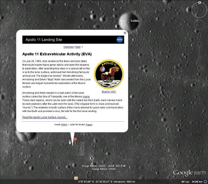 explorar la luna apolo 11