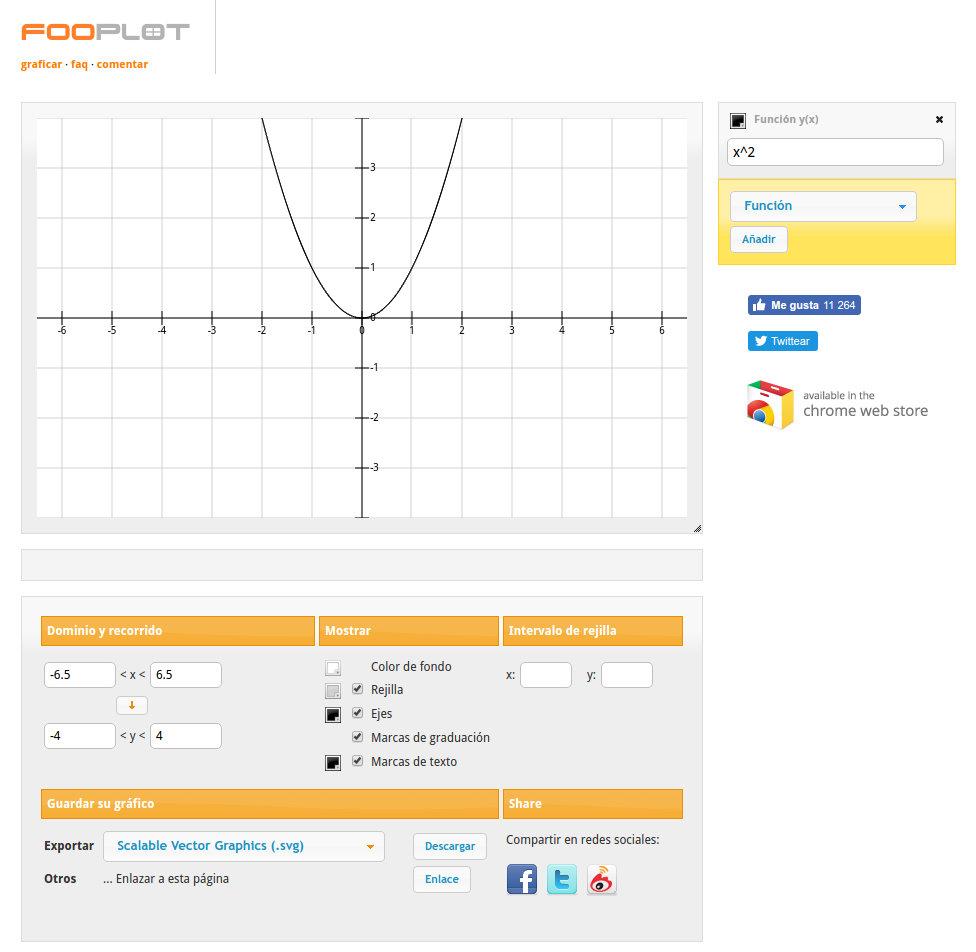 fooplot graficador de funciones