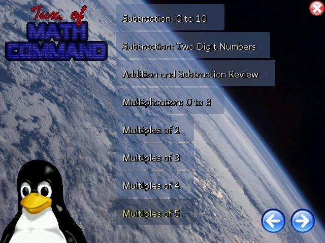 tux math command juego educativo matemática