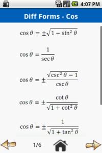 trigonométrica-fórmula