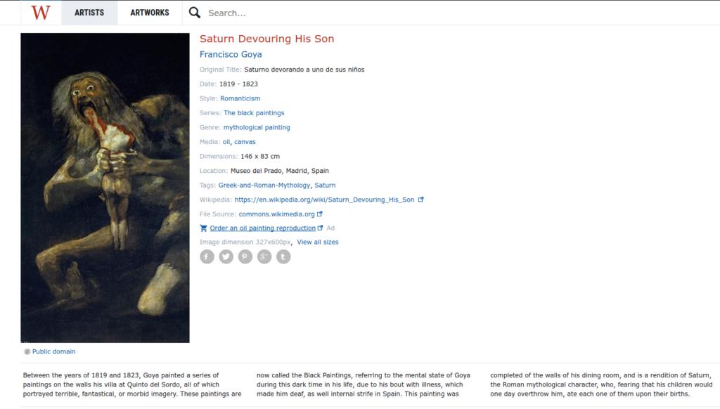 enciclopedia de obras de arte - pinturas