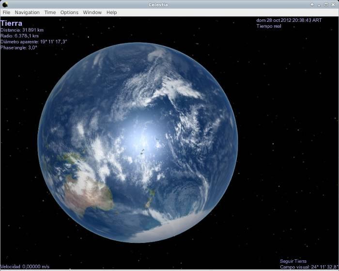 celestia tierra software astronomía