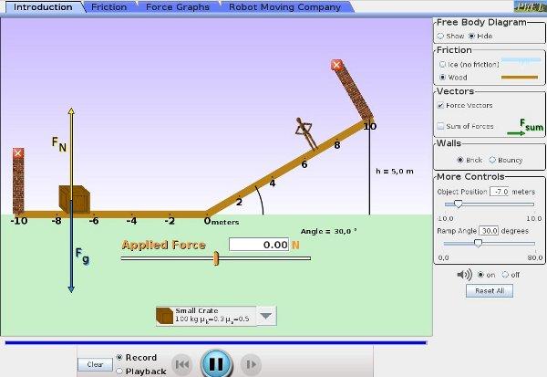 simulaciones interactivas de física - fuerzas y movimiento
