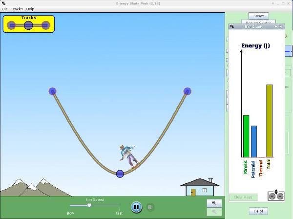 simulaciones interactivas de física - conservación de energía