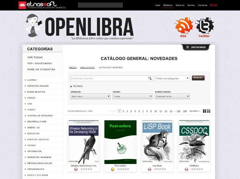 open libra biblioteca libre y gratuita