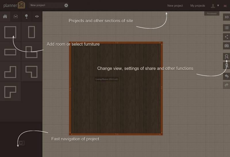 Planner 5d diseñar planos de arquitectura
