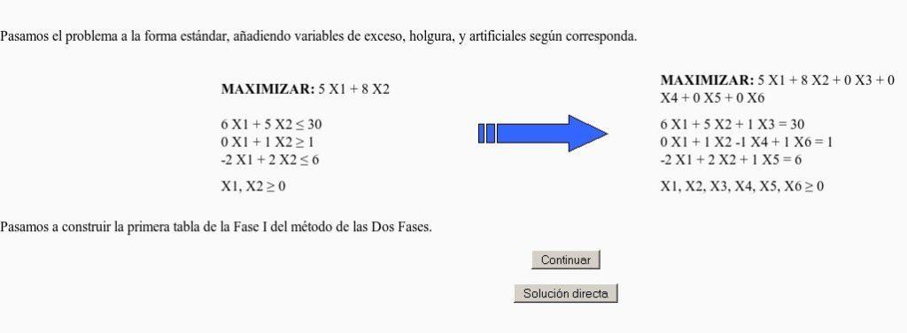 método simplex phpsimplex