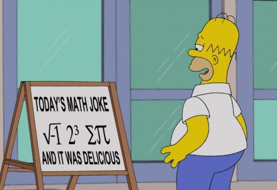 simpsons matemática
