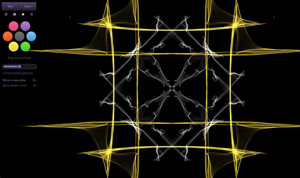 crear arte abstracto online
