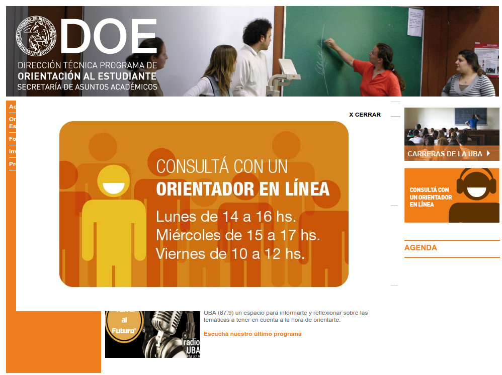 doe página web