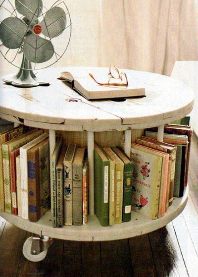 bibliotecas originales bobina mesa