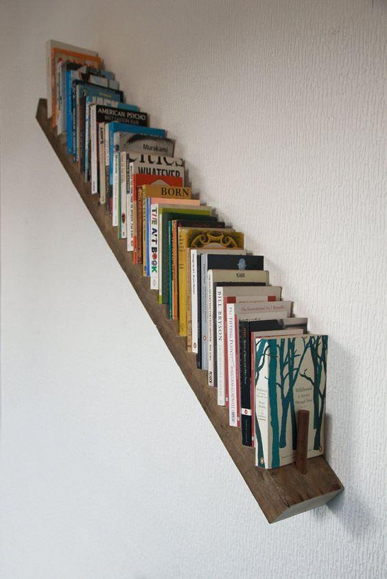 bibliotecas originales escalera diagonal