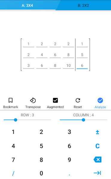 calculadoras de matrices android