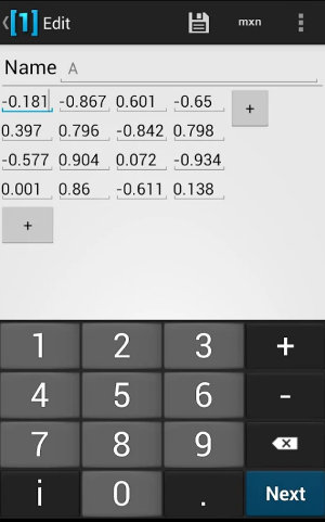 calculadoras de matrices vertedge android