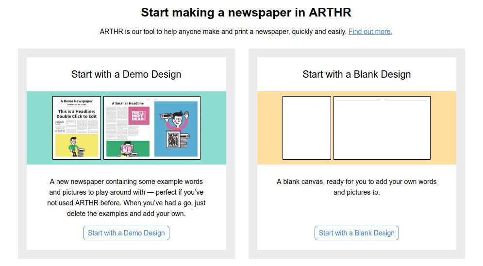 arthr crear periódico desde cero