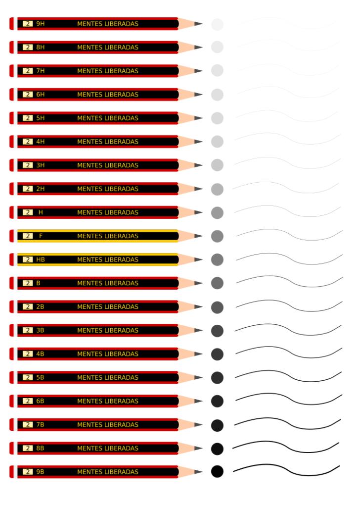escala de dureza lápices