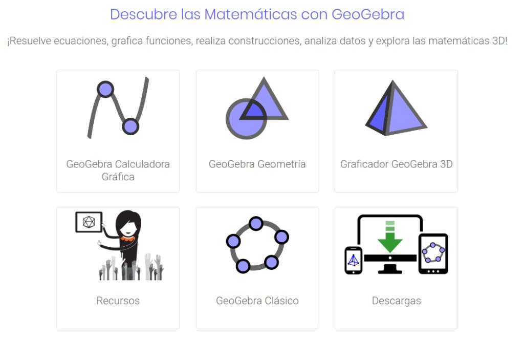 geogebra herramientas de matemática