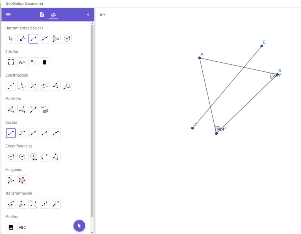 geogebra geometría matemática