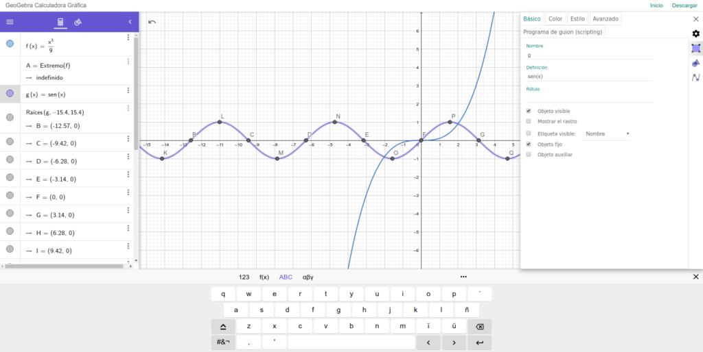 graficador de funciones matemática geogebra