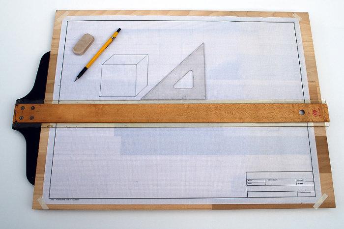 dibujo técnico tablero regla t