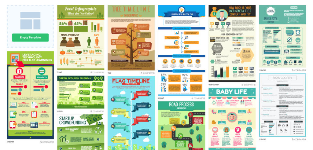 plantillas crear infografías