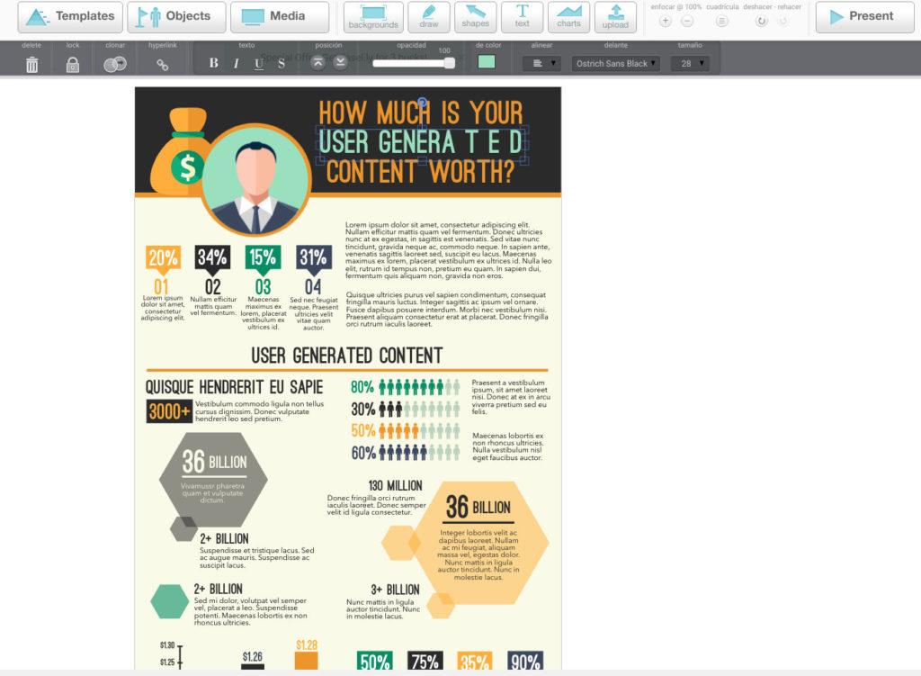 crear infografías Easel.ly