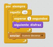 por siempre programar un contador con Scratch