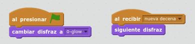 programar un contador con Scratch decena