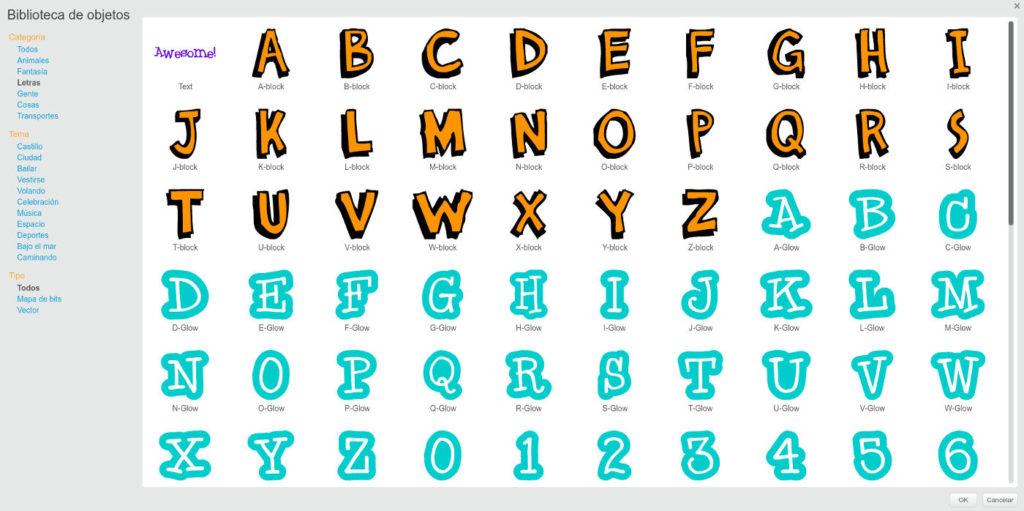 programar un contador con Scratch librería números