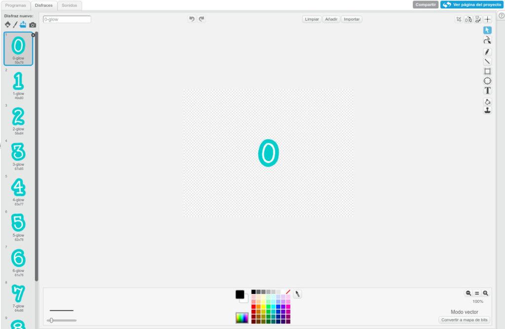 objeto unidad programar un contador con Scratch