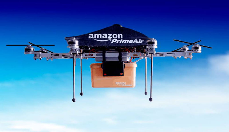 dron drones amazon envíos prime air