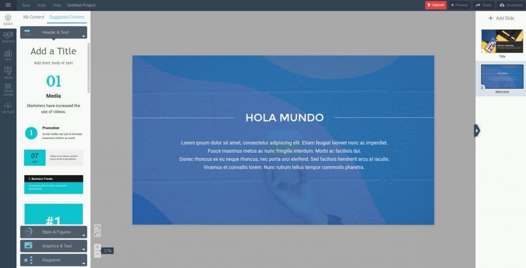 herramienta para crear presentaciones online visme