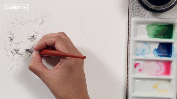 dibujar con los sentidos