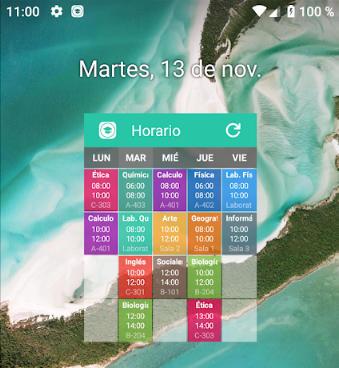 widget horario