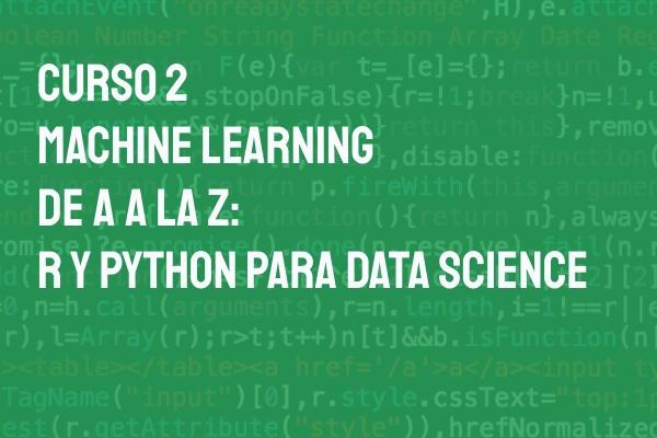 machine learning python lenguaje r